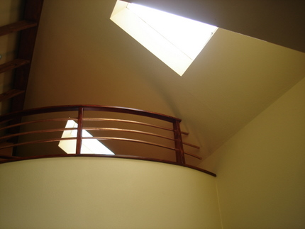 use of skylights in Martin's garage apartment