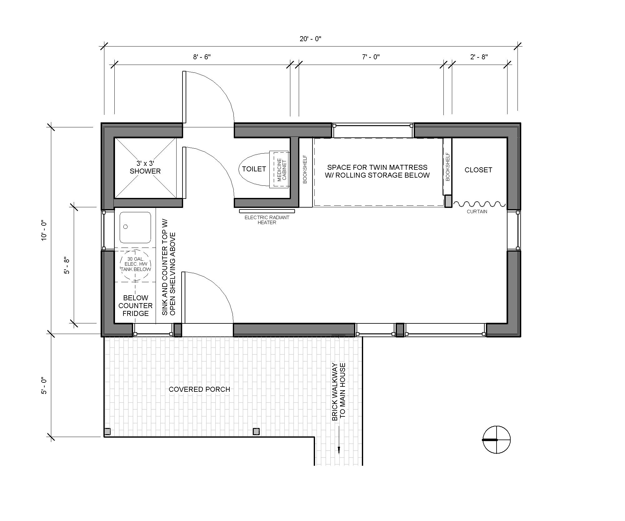 Detached bedroom as tiny home accessory dwellings for Adu garage plans