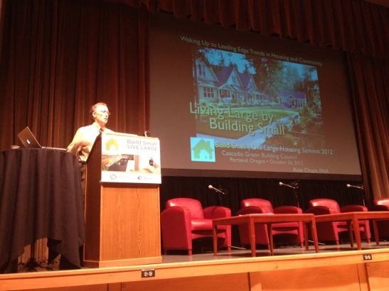 Ross Chapin delivered the keynote address