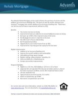 Advantis Rehab Mortgage can be used to finance the purchase of a home and the addition of an Accessory Dwelling Unit.