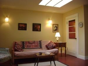lounge space in Jill's ADU