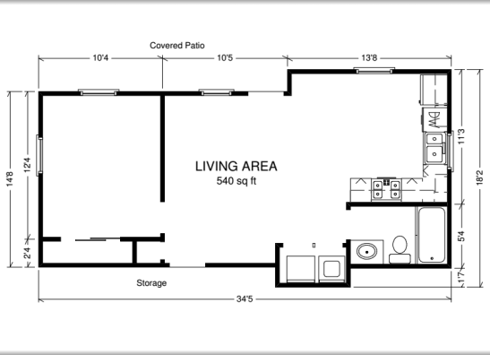 Accessory dwelling unit floor plans gurus floor for Adu plans