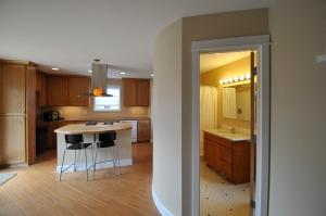 kitchen and bathroom in Stephen Williams' ADU