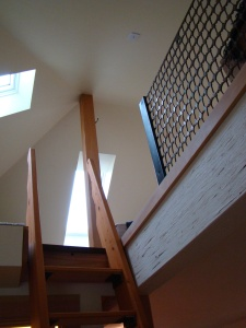 a ladder leads to the loft