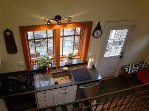 view of the kitchen from the loft