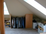 there's plenty of storage space in the loft