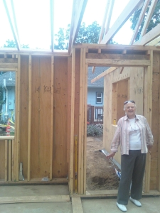 Shirley on trusses day