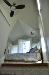 Dyer ADU bedroom at top of stairs