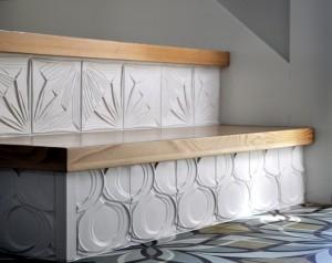 Dyer ADU stair detail with Stephanie's tile