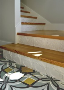 Dyer ADU tiled stair case