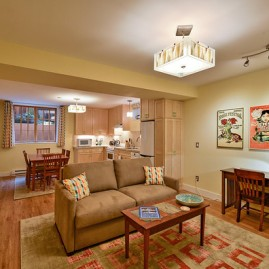 800 sq ft basement conversion in Irvington Historic District- Photography by Jim Heuer