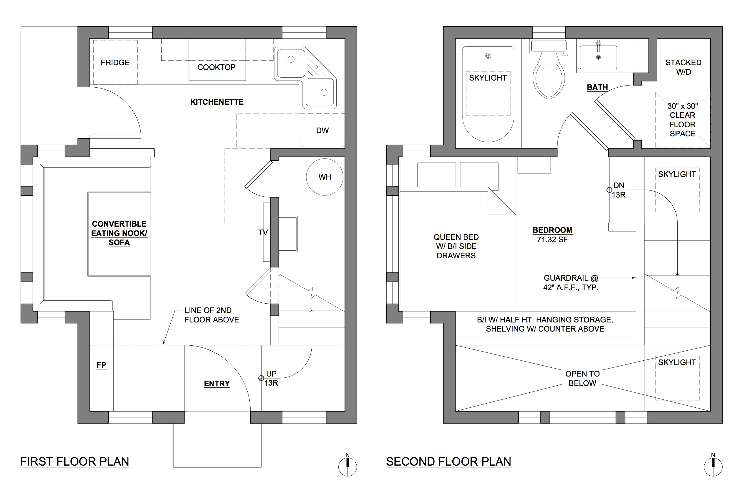 Accessory dwelling unit floor plans for Accessory house