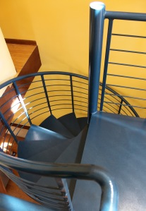 the spiral staircase is Paz Pozarycki's favorite feature of the ADU