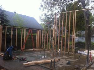 Tom Hudson ADU Wall Raising