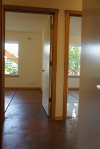 View into 2 bedrooms in Albano ADU