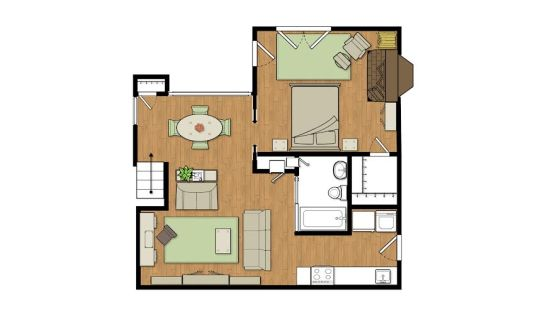 Clark chen adu floor plan accessory dwellings for Adu floor plans