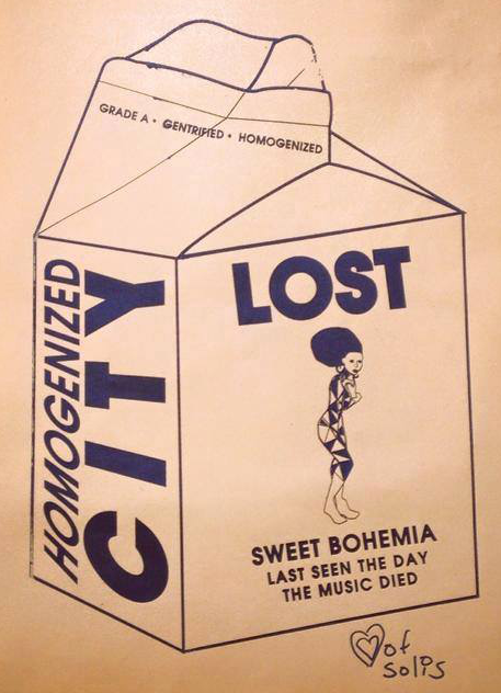 photo of a milk-carton style flyer lamenting the loss of