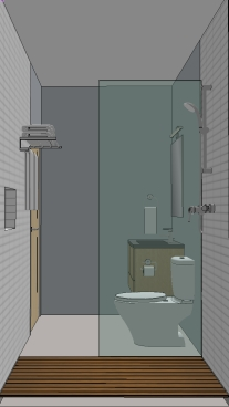 Birdsmouth ADU 2 Bathroom Rendering