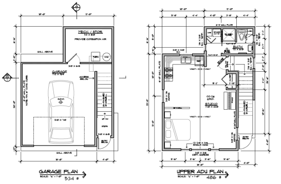 Endpoint design adu 2 floor plans accessory dwellings for Adu garage plans
