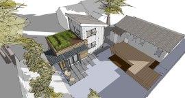 Zenbox Design ADU 2 Birdseye Rendering
