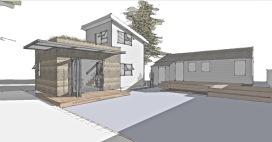 Zenbox Design ADU 2 & Main House Rendering