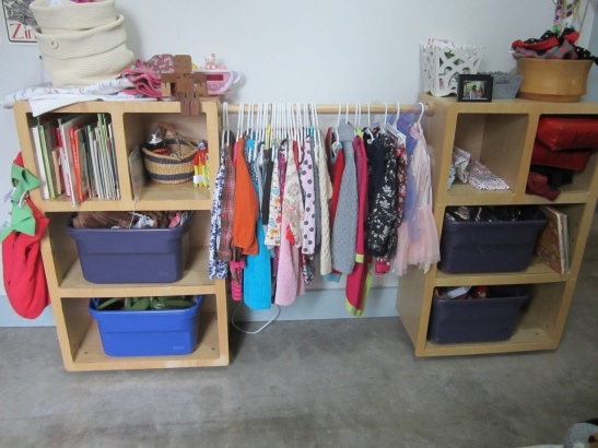 Lara & Wally Jones created a kids closet with modular pieces