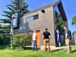 photo of a stylish backyard house